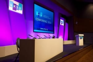 Conference-stage-set Bournemouth International Centre