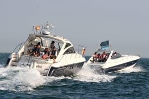 Multiple vessel powerboat charter