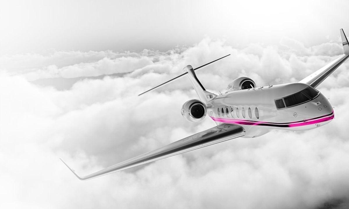 Luxury airplane travel
